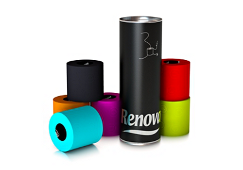 renova colored toilet paper